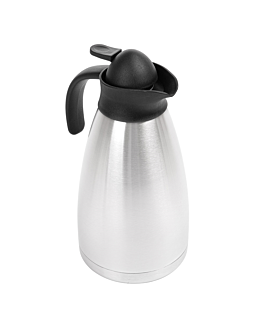 """""""metallic luster"""" thermo 1,5 l 13,7x27,5 cm silver stainless steel (1 unit)"""