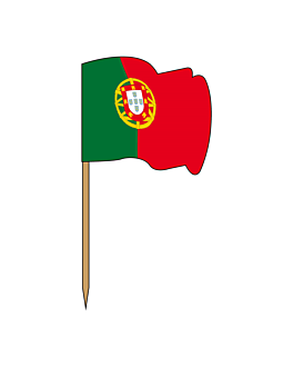 "flag picks ""portugal"" 4x3/6,5 cm assorted wood (144 unit)"