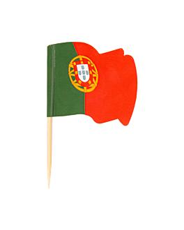 """petits drapeaux """"portugal"""" 4x3/6,5 cm assorti bois (144 unitÉ)"""