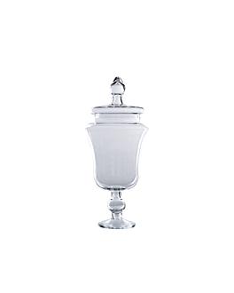 decoration jar with lid Ø 13,1/16,1x41,2 cm clear glass (1 unit)