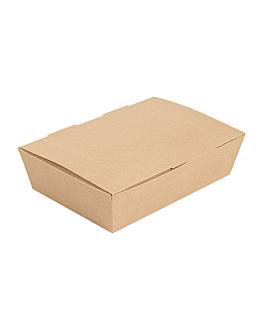 "boÎtes ""lunch box"" couvercles 'thepack' 220 g/m2 20,5x14,6x5 cm naturel carton ondulÉ nano-micro (360 unitÉ)"