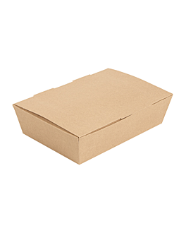 lunch box lid 'thepack' 220 gsm 20,5x14,6x5 cm natural nano-micro corrugated cardboard (360 unit)