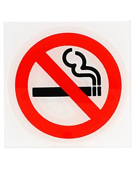 placa autocolante - proibido fumar 12x12 cm branco metacrilato (1 unidade)