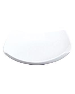platos cuadrados curvados 27,5x27,5x6,6 cm blanco porcelana (12 unid.)