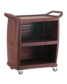 open 1 sided trolley 98x46x105 cm brown abs (1 unit)