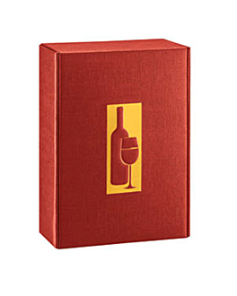 30 e. verpackungen 3 flaschen 34x28x9 cm bordeaux karton (1 einheit)
