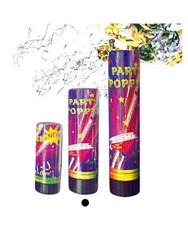 24 tubos party popper 15,5 (h) cm surtido (1 unid.)