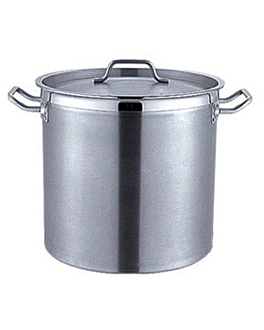cooking pot + lid 98 l Ø 50x50 cm silver stainless steel (1 unit)