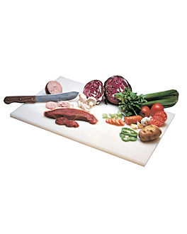 tabla de cortar 25,5x15x1,3 cm blanco peld (1 unid.)