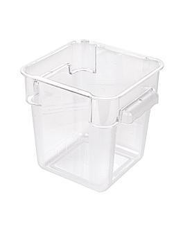 contenitore alimenti 4 l 18x18x19 cm trasparente policarbonato (1 unitÀ)