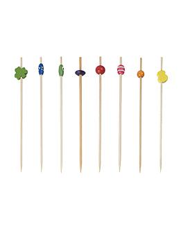 picks decorados 12 (h) cm surtido bambÚ (100 unid.)