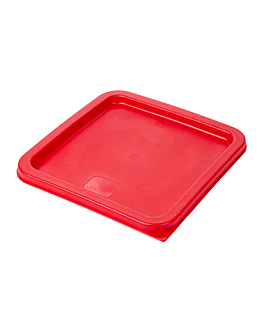lid for code 145.57 / 164.52 23,2x23,2x1 cm red pe (1 unit)