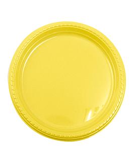 10 u. assiettes de polystyrene Ø 23 cm jaune vif ps (1 unitÉ)