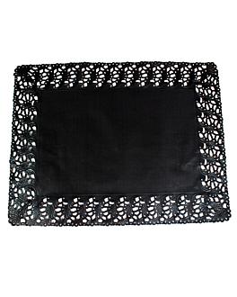 centrino pizzo rettangolari 40 g/m2 45x36 cm nero carta (250 unitÀ)