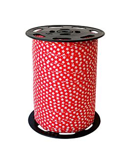 cinta 'Étoiles' 10 mm x 225 m rojo pp (1 unid.)