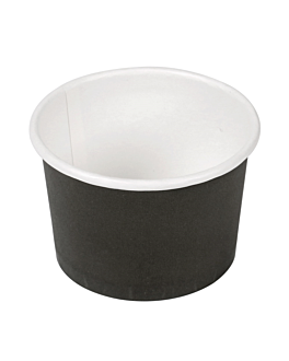 pequeÑas tarrinas 30 ml 210 + 18 pe g/m2 Ø6,15/5x4 cm negro cartoncillo (1000 unid.)