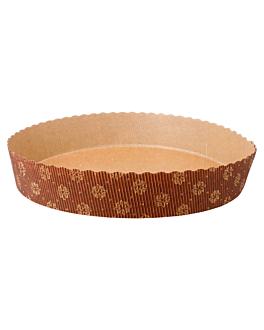 moules cuisson pÂtisserie Ø 22x4 cm marron papier (408 unitÉ)