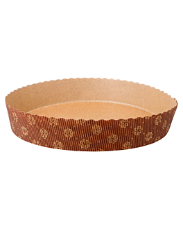 round baking molds Ø 22x4 cm brown paper (408 unit)