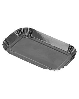 rectangular mini plates 325 g/m2 4x8 cm black cardboard (100 unit)