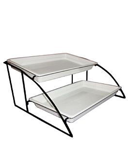 suporte 2 piani contenitori gn 1/1 56,5 cm nero ferro (1 unitÀ)