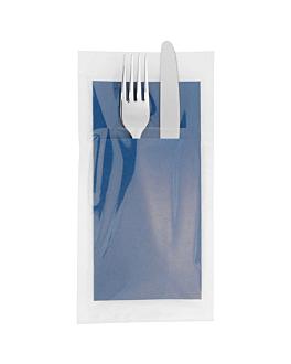 ind. wrap. napkins ecolabel f.1/8 'double point' 18 gsm 40x39 cm blue tissue (300 unit)