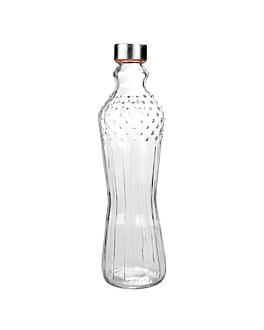 bottiglia + coperchio inox 990 ml Ø8,6x31 cm trasparente cristal (24 unitÀ)