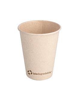 copos bebidas quentes 1 parede 'biodegradable' 360 ml 280 + 30 pla g/m2 Ø8.9x11 cm natural celulose bagaÇo + pla (1000 unidade)