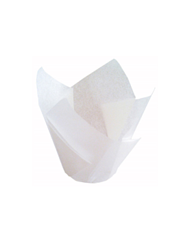 muffin cups 'tulip' 50 g/m2 15x15 cm white greaseproof parch. (1000 unit)