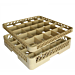 suplemento rack de 25 compartimentos 50x50x4,5 cm beige pp (1 unid.)