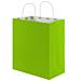 """bolsas sos con asas - int.""""topos"""" 80 g/m2 32+16x31 cm verde anÍs celulosa (250 unid.)"""