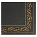 servilletas ecolabel 'double point - troya' 18 g/m2 40x40 cm negro tissue (1200 unid.)