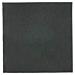 servilletas ecolabel 'double point' 18 g/m2 20x20 cm negro tissue (2400 unid.)