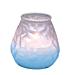 velas en vaso nacarada 'monarch' 9,5x9,5 cm blanco parafina (24 unid.)