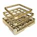 rack lavavajillas de 16 compart. vasos 50x50x10 cm beige pp (1 unid.)