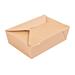 cajas americanas microondables 'thepack' 1980 ml 240 + 12pp g/m2 19,6x14x6,2 cm natural cartÓn ondulado nano-micro (200 unid.)