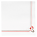 servilletas ecolabel burdeos & gris 'double point - maxim' 18 g/m2 40x40 cm blanco tissue (1200 unid.)