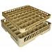 rack lavavajillas de 49 compart. vasos 50x50x10 cm beige pp (1 unid.)