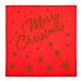 servilletas 'merry christmas' 55 g/m2 40x40 cm rojo airlaid (700 unid.)