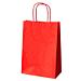 sacchetti sos con manici 80 g/m2 26+14x32 cm rosso kraft (250 unitÀ)
