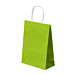 bolsas sos con asas 80 g/m2 20+10x29 cm verde anÍs celulosa (250 unid.)