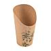 gobelets a frites ouverts 'feel green' 16 oz - 480 ml 200 + 25pe g/m2 Ø8,5x13,5 cm marron carton (50 unitÉ)