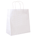 bolsas sos con asas 90 g/m2 32+16x31 cm blanco celulosa (250 unid.)