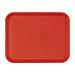 plateau fast food 30,4x41,4 cm rouge pp (1 unitÉ)