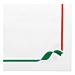 servilletas ecolabel 'double point - trattoria' 18 g/m2 40x40 cm blanco tissue (1200 unid.)