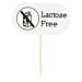 """marcadores """"lactose free"""" 8 cm blanco madera (100 unid.)"""