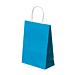 bolsas sos con asas 80 g/m2 20+10x29 cm azul turquesa celulosa (250 unid.)