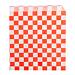 bolsas abiertas 2 lados 'fitipaldi' 34 g/m2 13x14 cm rojo perg. antigrasas (1000 unid.)