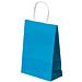 sacchetti sos con manici 80 g/m2 26+14x32 cm blu turchese cellulosa (250 unitÀ)