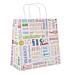 sacchetti sos con manici 'parole' 80 g/m2 26+14x32 cm bianco cellulosa (250 unitÀ)
