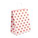 """sacchetti sos con manici - ext. """"pois"""" 80 g/m2 26+14x32 cm rosso cellulosa (250 unitÀ)"""